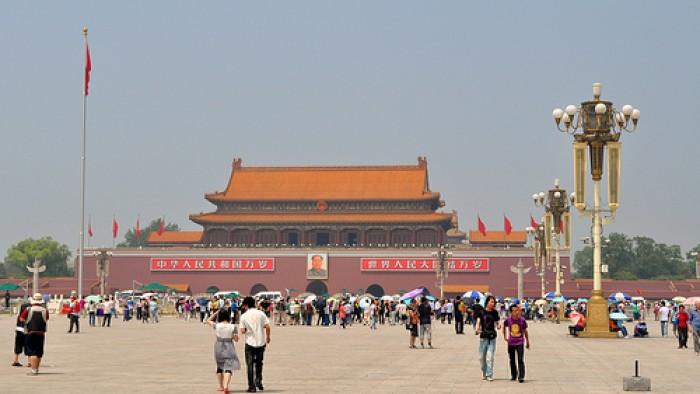 Tiananmen Square massacre takes place