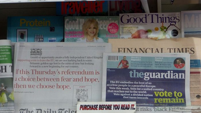 Brexit, 'the Media' and the Illusive Nature of Euroscepticism