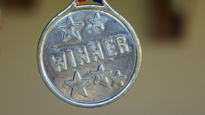 First Medal Success Winner Award Gold