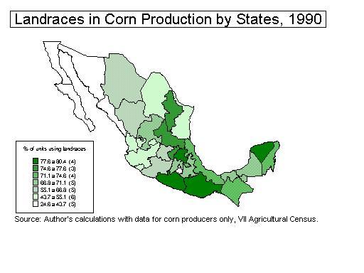 Indigenous Mexicans Map Figure 3: a comparison of