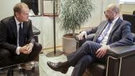 Martin SCHULZ - EP President meets with Donald TUSK - EU Council President