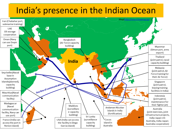 What Can A Japan Us India Australia Cooperation Do - India-us-map