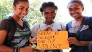 16 Days of Activism 2014 in Solomon Islands   Visitors to the UN Joint agencies Information Booth: Break the SILENCE. End the VIOLENCE  As part of the 16 Days of Activism against Gender Based Violence Campaign, UN Women, UNICEF, WHO and UNDP collaborated with SPC's Youth@Work to celebrate and support the key role that youth play in the global movement to end violence against women and girls.  PHOTO: UN Women