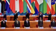 (In the pic - President Ramaphosa FOCAC Co-chairperson and President Xi Jinping Chairpeson flanked by other heads of states Equitorial Guinea President Teodoro Obiang Nguema Mbasogo, Rwanda President Paul Kagame and Cameroon President Paul Biya at the start of the summit). President Cyril Ramaphosa addressing the Official Ceremony of the High Level dialogue between Chinese and African Leaders and Business Representatives and 6th Conference of the Chinese and African Entrepreneurs at the China National Convention Centre.  President Cyril Ramaphosa is in the People's Republic of China (PRC) for a State Visit at the invitation of President Xi Jinping and to co-chair the 2018 Forum on China-Africa Cooperation (FOCAC) Summit. President Ramaphosa is leveraging the visit to step up his drive to attract investment into the South African economy to stimulate inclusive growth and create employment.