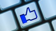 Facebook Like No Keyboard Computer Button Blue