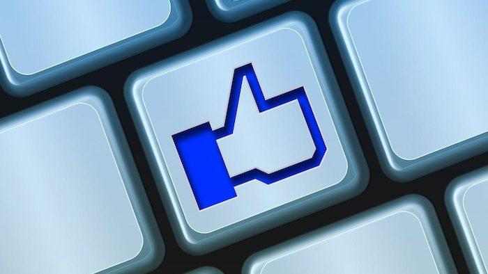 Facebook Like No Keyboard Computer Button Blue