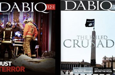 Two covers from Dabiq Magazine