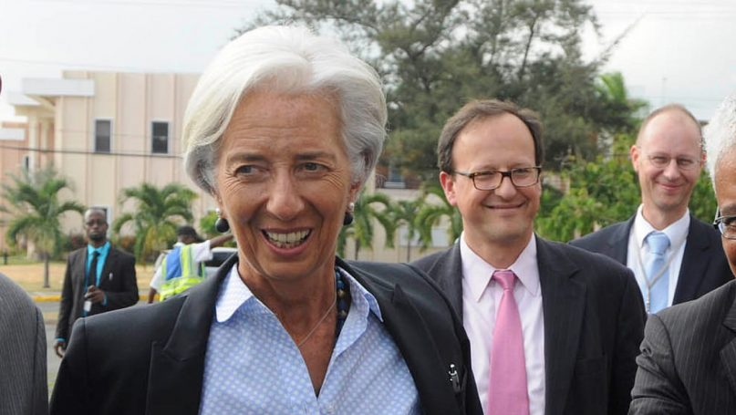 Christine Lagarde visits Jamaica in 2014. Image by the IMF
